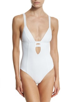 Vitamin A Neutra Strappy-Back One-Piece Swimsuit  Eco White