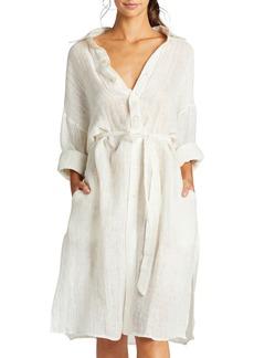 Vitamin A Riviera Belted Coverup Shirt Dress