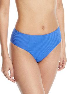 Vitamin A Sieena High-Waist Textured Swim Bikini Bottoms