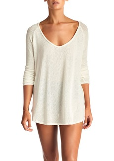 Vitamin A Drifter Beach Sweater Coverup  Cream