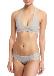 Vitamin A Emelia Triple-Strap Swim Bottom