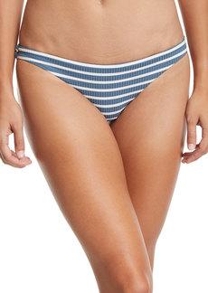 Vitamin A Luciana Full-Coverage Striped Swim Bikini Bottoms
