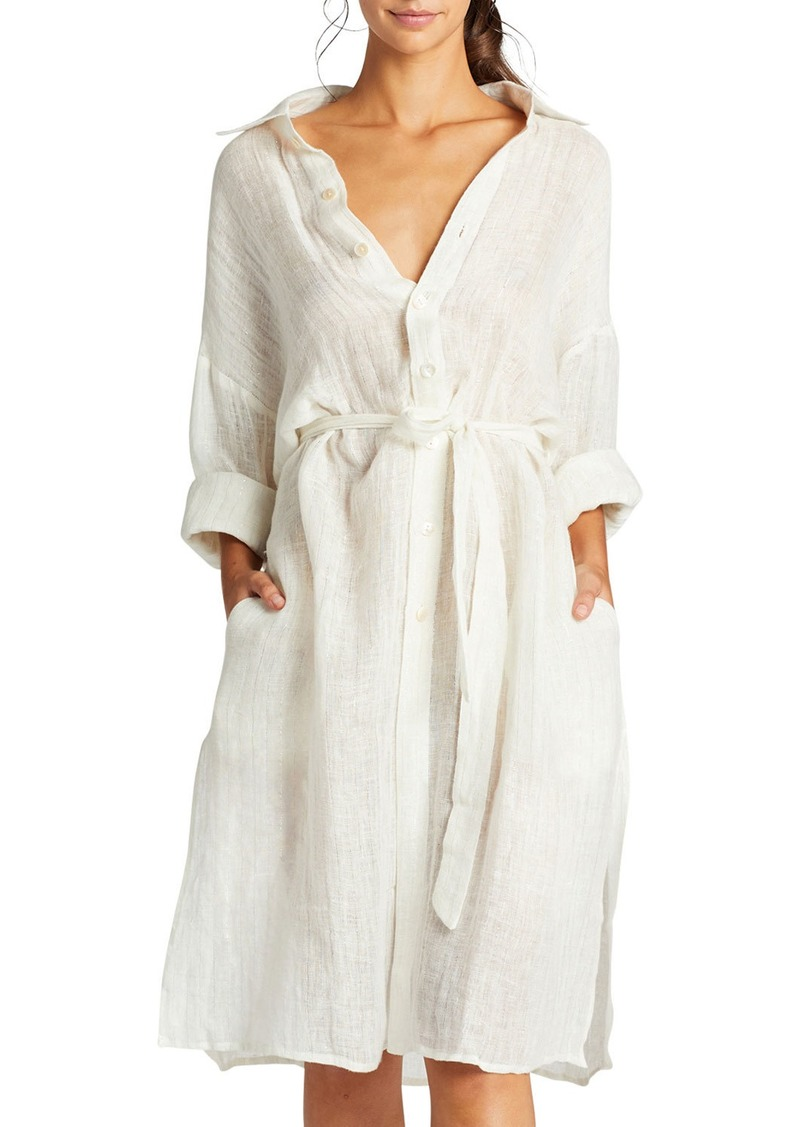 Vitamin A Riviera Belted Coverup Shirt Dress