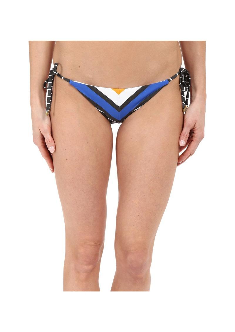 Vitamin A Swimwear Natalie Miter Stripe Tie Side