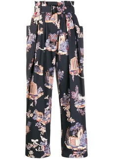 Vivetta belted floral pattern trousers