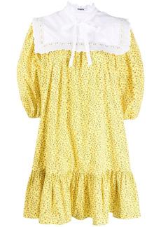 Vivetta bib-collar floral-print dress