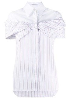 Vivetta bow-tie striped shirt