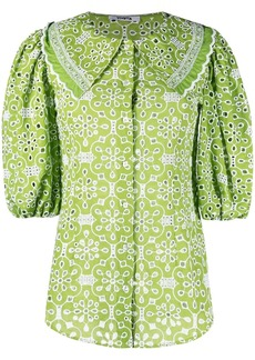 Vivetta broderie anglaise puff-sleeve blouse