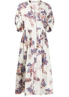 Vivetta floral flared midi dress