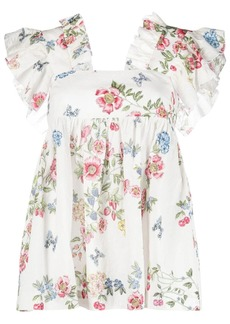 Vivetta floral-print ruffled blouse