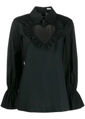 Vivetta heart neck blouse