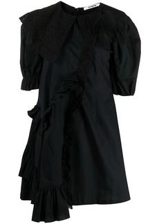 Vivetta lace-collar cotton shift dress
