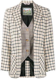 Vivetta layered check blazer