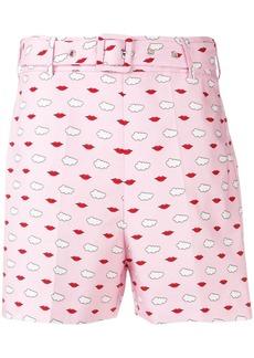 Vivetta lip print shorts