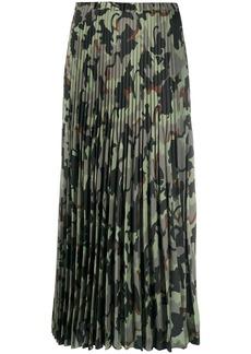 Vivetta pleated camouflage print skirt
