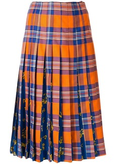 Vivetta tartan print pleated skirt