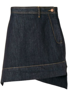 Vivienne Westwood asymmetric denim skirt
