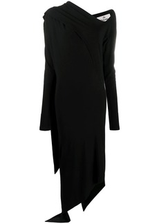 Vivienne Westwood asymmetric draped panel dress