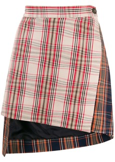 Vivienne Westwood asymmetric plaid skirt