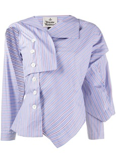 Vivienne Westwood asymmetric striped shirt