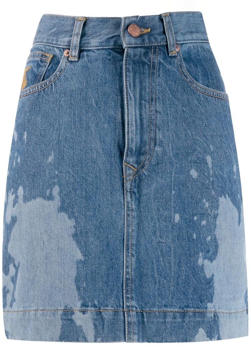 Vivienne Westwood bleached effect mini skirt