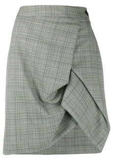 Vivienne Westwood check draped mini skirt