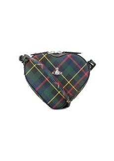 Vivienne Westwood check heart cross body bag