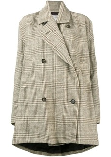 Vivienne Westwood checked double breasted swing coat
