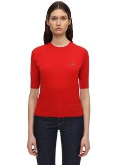 Vivienne Westwood Cotton Knit Short Sleeve Sweater