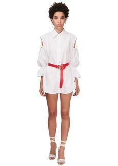 Vivienne Westwood Cotton Poplin Mini Dress W/cut Out