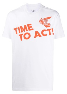 Vivienne Westwood crew neck Time To Act print T-shirt
