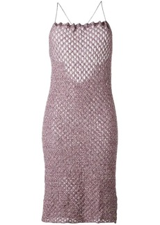 Vivienne Westwood crisscross strap knit dress