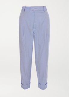 Vivienne Westwood Dave Pinstriped Cotton-blend Straight-leg Pants