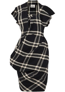 Vivienne Westwood Draped Plaid Linen Dress
