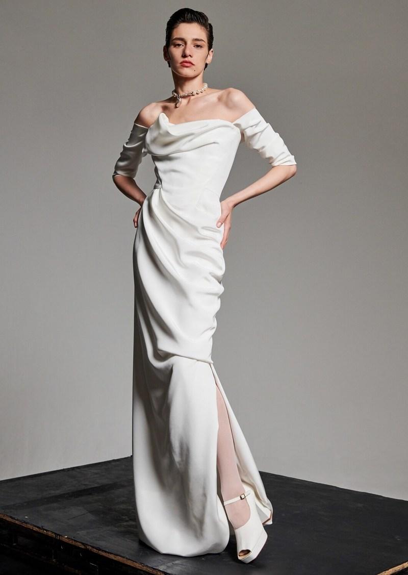 Vivienne Westwood Draped Silk Cady Dress