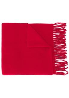 Vivienne Westwood embroidered logo fringed scarf