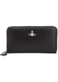 Vivienne Westwood Emma Classic Leather Zip Around Wallet