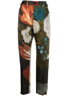 Vivienne Westwood floral print straight trousers