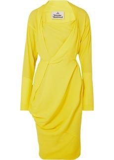 Vivienne Westwood Grand Fond Draped Crepe De Chine Dress