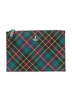 Vivienne Westwood Hunting Derby logo clutch bag