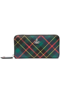 Vivienne Westwood Hunting Tartan continental purse