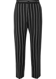 Vivienne Westwood James Bond Cropped Striped Wool Slim-leg Pants