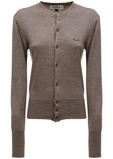 Vivienne Westwood Knit Wool Cardigan W/ Logo Embroidery