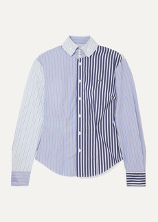 Vivienne Westwood Krall Paneled Striped Cotton-poplin Shirt