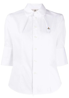 Vivienne Westwood logo embroidered cotton shirt