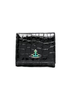 Vivienne Westwood logo-print crocodile-effect wallet
