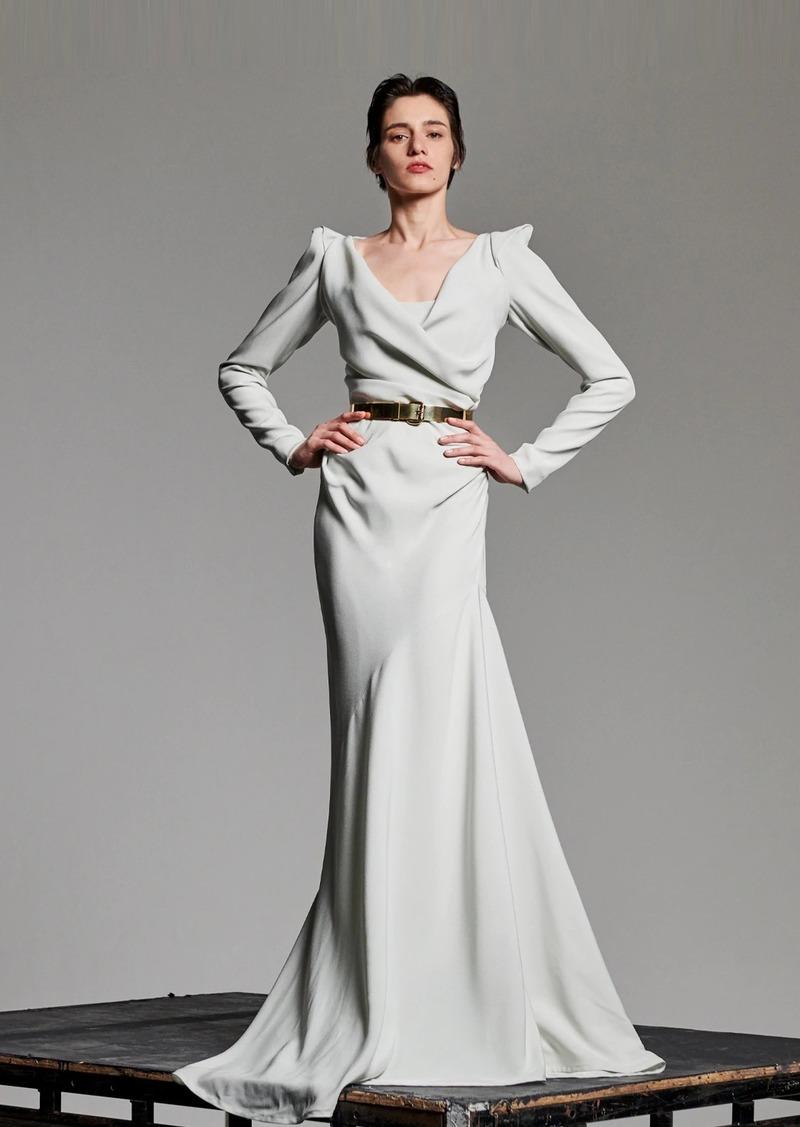 Vivienne Westwood Matte Viscose Crepe Satin Dress