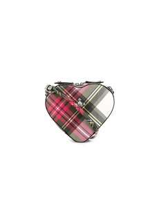 Vivienne Westwood Orb tartan heart cross-body bag