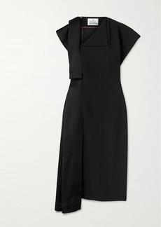 Vivienne Westwood Paneled Crepe And Satin Dress