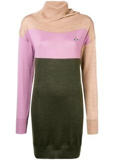 Vivienne Westwood panelled roll neck sweater dress